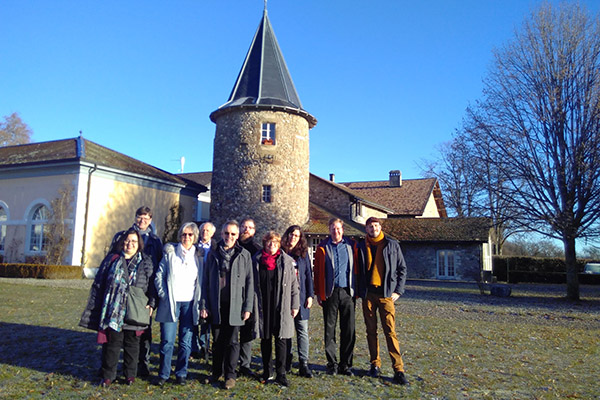 Visiting Bossey: (from the left) Karla Unterhansberg, Günter Thomé, Christine Ahlhaus, Ekkehard Lagoda, Martin Ahlhaus, Stephan Scharf, Ursula Thomé, Maike Roeber, Jan Zechel, and Claudio Gnypek