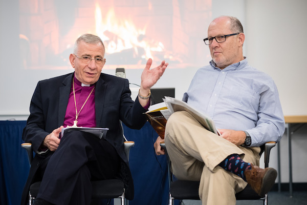 Bishop Munib Younan and author Elan Ezrachi