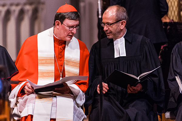 President of the Rhineland Church Manfred Rekowski and the Archbishop of Cologne Cardinal Rainer Maria Woelki emphasised the unifying bond of baptism.