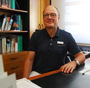 Dr Christoph Zenses at his practice in Solingen.