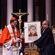 The Archbishop presented President Rekowski with an artwork