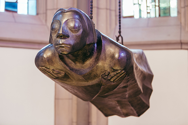Sculpture by Ernst Barlach as a memorial to the  soldiers killed in action during World War I