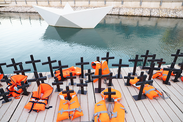 Remembrance of the deceased refugees in Malta.